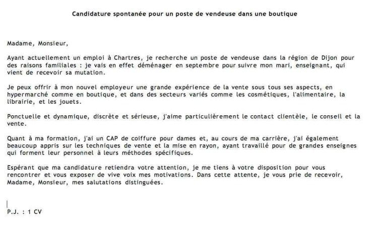 Lettre De Motivation Supermarche Grande Surface Distribution