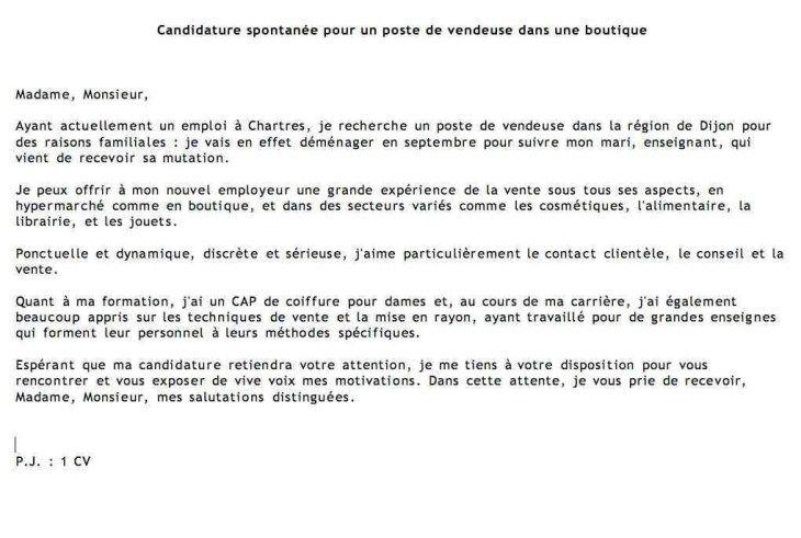 16 Rediger Une Lettre De Candidature Spontanee Exemple De Lettre Modeles De Lettres Candidature Spontanee