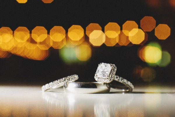 wedding ring + band