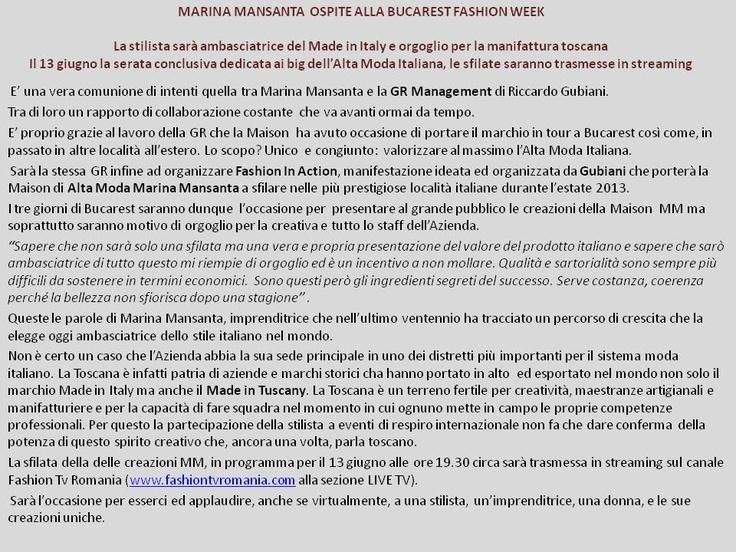 Marina Mansanta: un orgoglio Made in Tuscany