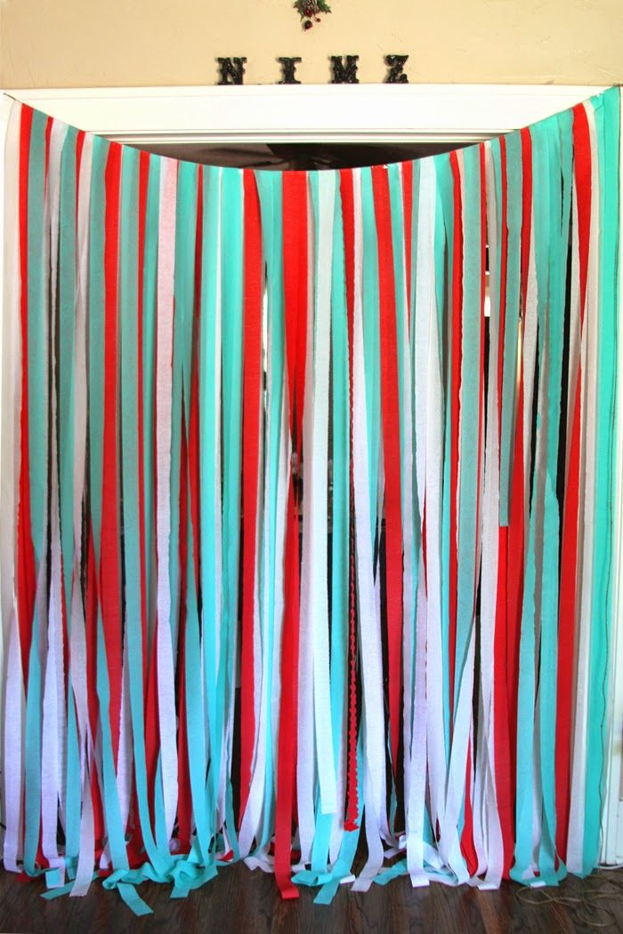 DIY: Party Streamer Wall by Marilyn - Brewed Together