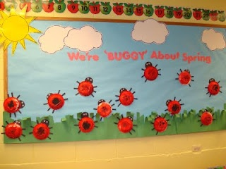 Ladybug Spring Bulletin Boards. for insect week on my classroom door.
