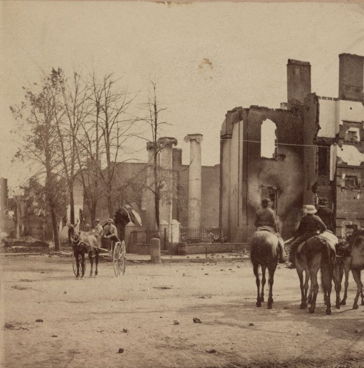 The Bank of Chambersburg Pennsylvania burned during