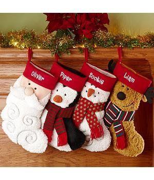 Amazon.com - Personalized Furry Friends Stockings - Christmas Stockings -