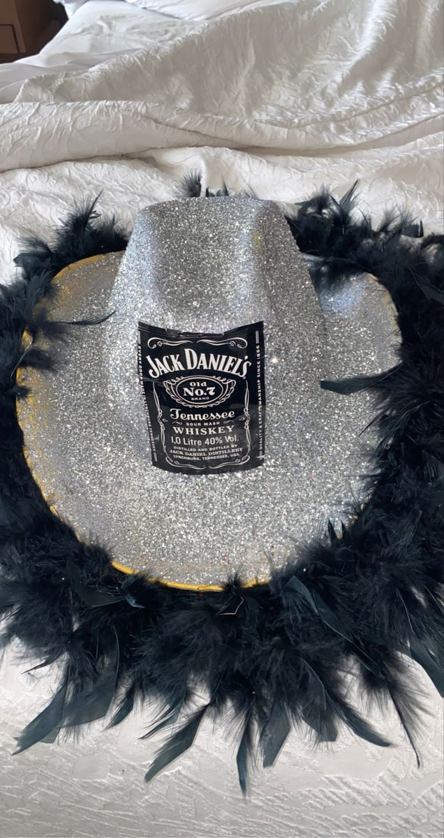 Jack Daniels Diy Cowboy Party Hat In 2021 Cowgirl Party Girls Night Party 18th Party Ideas