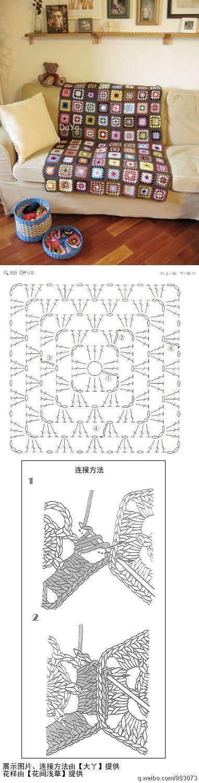 attaching crocheted motifs