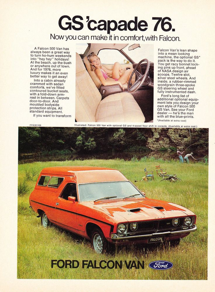 Rare Vintage 1976 A4 Advertisement Ford Falcon 500 XB GS Panelvan | eBay