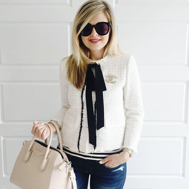 Tweed jacket and stripes