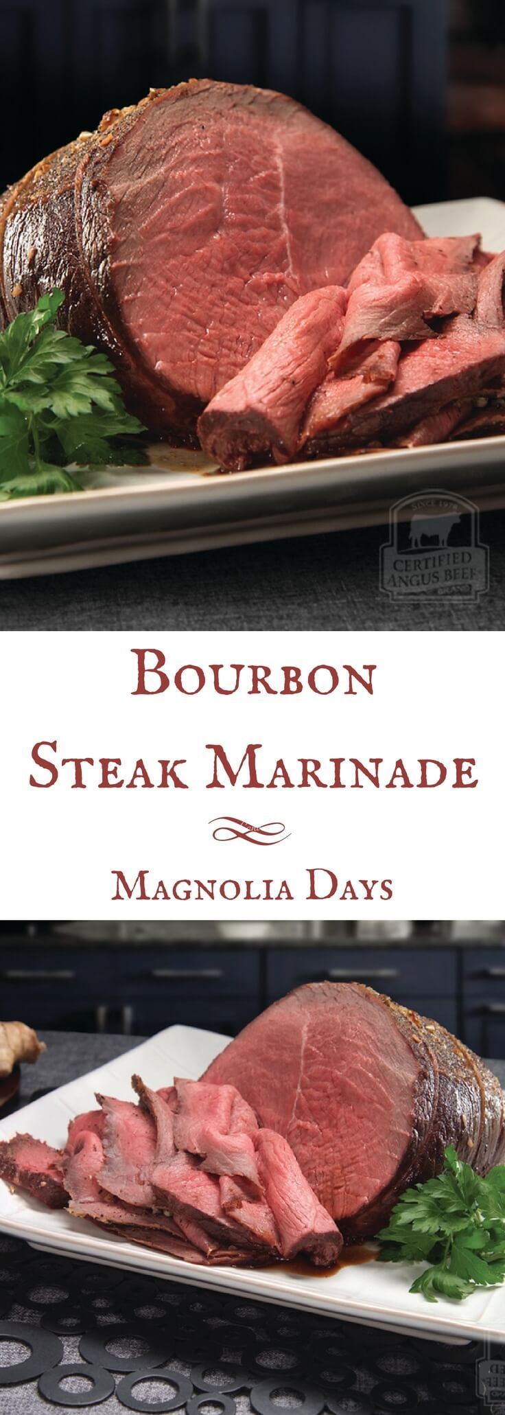 Marinate any cut of steak with this Bourbon Steak Marinade! This recipe comes from the beef experts at Certified Angus Beef, so you know it's a good one. via @magnolia_days sponsored by @CertAngusBeef