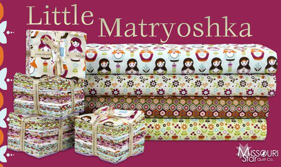 Pretty much the cutest thing I've seen in a long time! Little Matryoshka by Carly Griffith for Riley Blake Designs