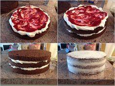 VÍKENDOVÉ PEČENÍ: Bezlepkový dort s mascarpone a malinovým pyré