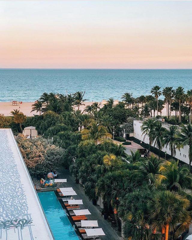 Forever sunset chasers || South Beach Miami  @nastasiaspassport  #miami #exploremore #beachgoldinspo