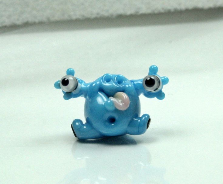 Cute Alien Lampwork Glass - Focal Glass Bead - Sculpture bead - by Izzybeads SRA UK Lampwork