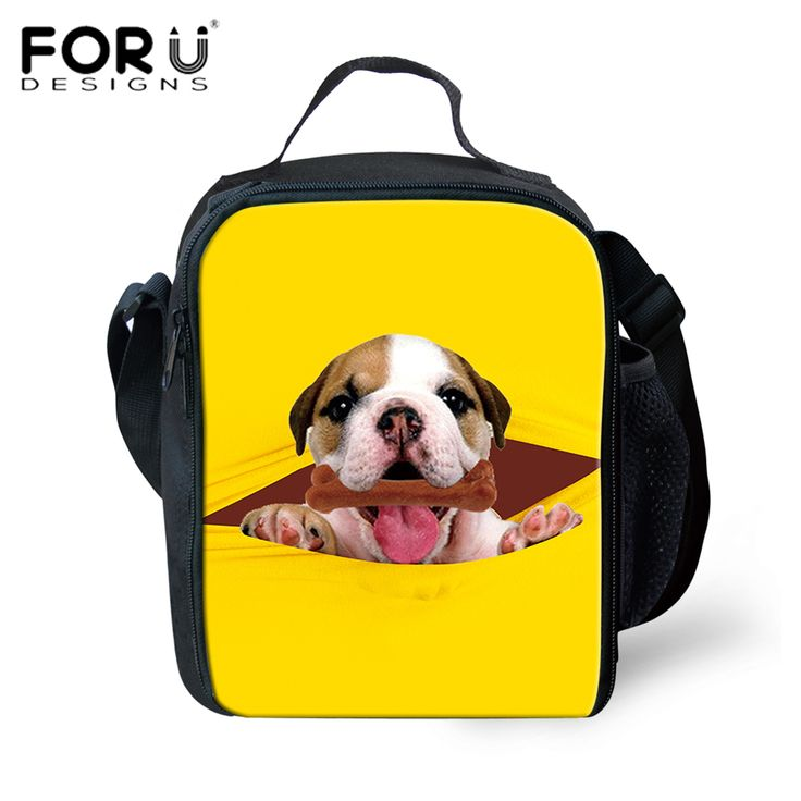 FORUDESIGNS Thermos Lunch Bag 3D Cute Puppy Dog Insulated Food Bag for Kids Women Men Picnic Cooler Bag Bolsa Lonchera Lunch Box