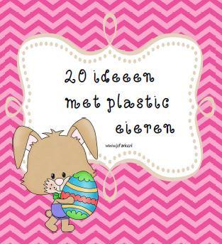20 Ideeën met plastic paaseieren