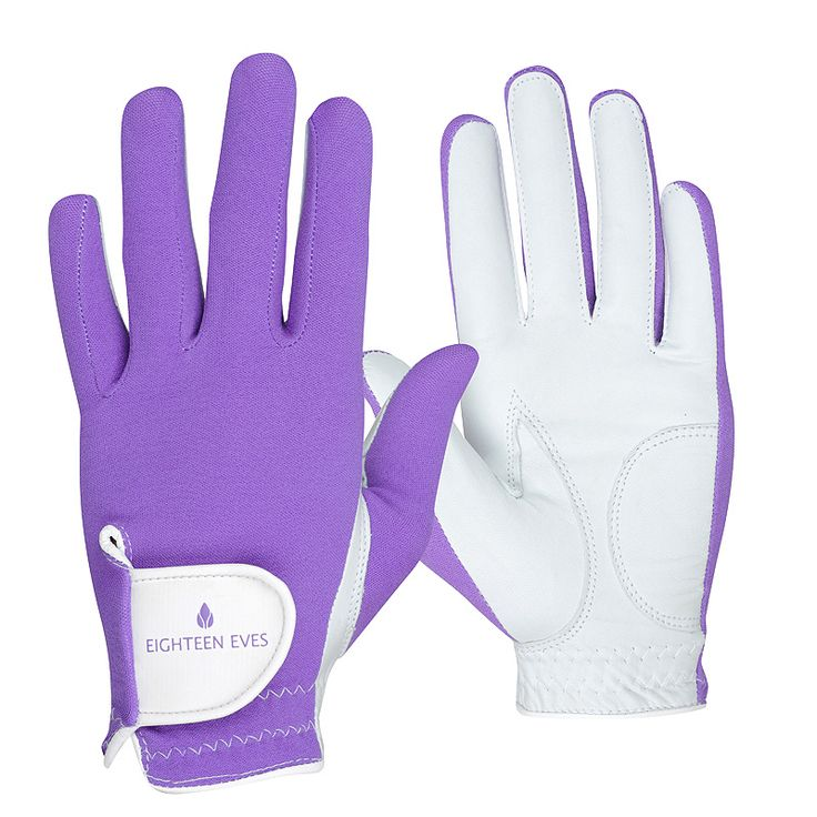 This ladies golf glove is fashioneered with a flexible back, allowing your grip to form easily. The palm is made from soft Cabretta leather that acts like a second skin, giving your hands enough protection without compromising the connection of your swing. Material: Cabretta Leather with Lycra Back Style: Perfectly Playful Purple Hand: Left and right Size: XS – XL