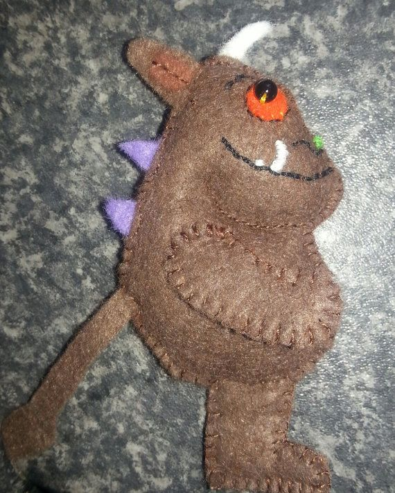 The Gruffalo small padded toy, also available as a finger puppet. Other characters possible on request.