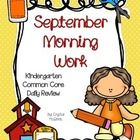 quick daily review of the Common Core Standards at the Kindergarten level