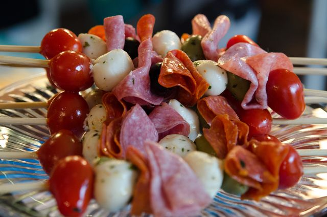 Baby Shower Food, Antipasti Skewers