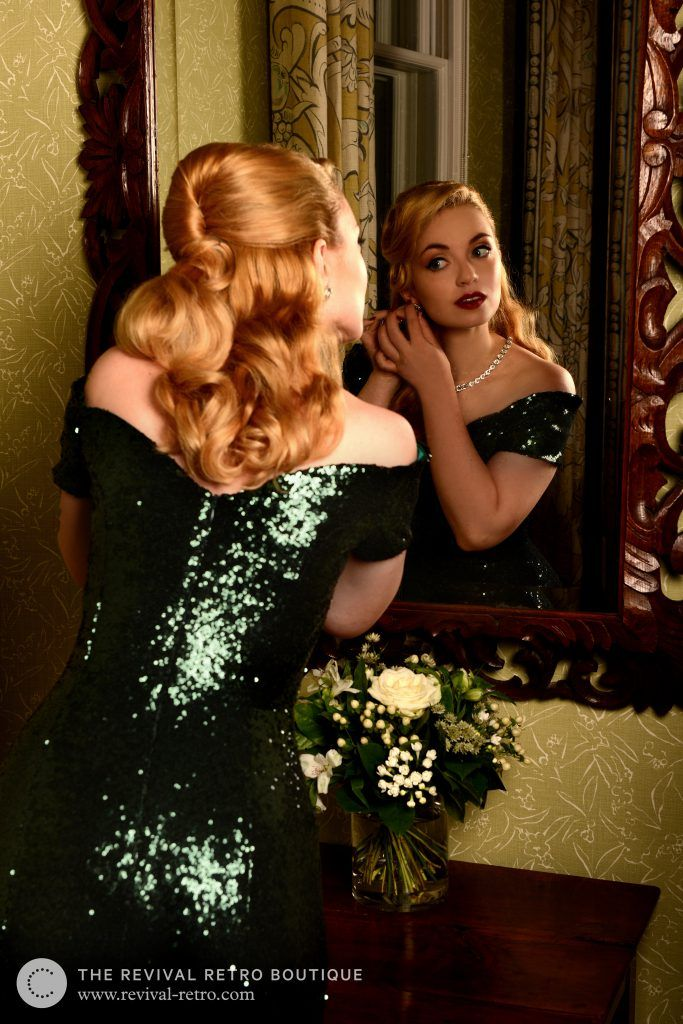 #VintageStyle #Photoshoot with #RevivalRetro Boutique #London. Photo by Tory Smith, Model is Victoria from Vintagemaedchen #VintageBlog. Love this #50s glamour dress!