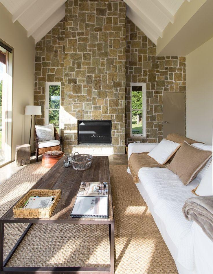 die besten 25 steinwand wohnzimmer ideen auf pinterest steinwand innen tv wand beleuchtung. Black Bedroom Furniture Sets. Home Design Ideas