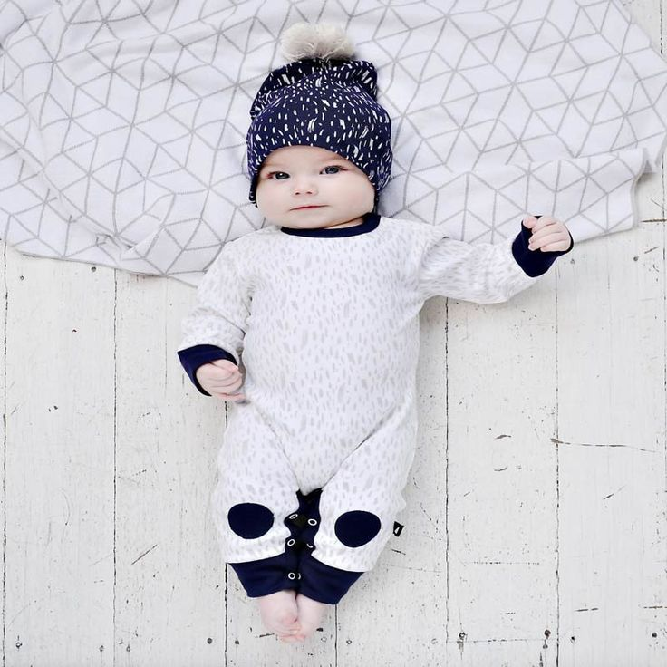 Anarkid Paint Patch Romper White & Ink Navy