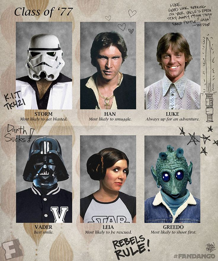 EXCLUSIVE ARTWORK: 'Star Wars' Yearbook Pages from a Long Time Ago... | Fandango