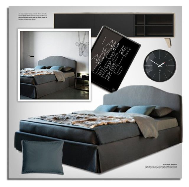 """""""Bedroom Decor"""" by lovethesign-eu ❤ liked on Polyvore featuring interior, interiors, interior design, home, home decor, interior decorating, Moka London, Ivano Redaelli, bedroom and gray"""