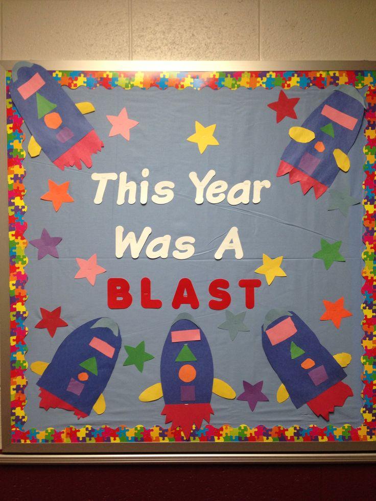 My end of the school year bulletin board bulletin board for Board of ideas