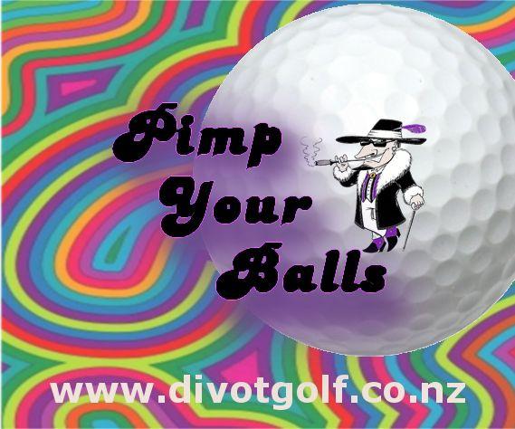 We print on golf balls