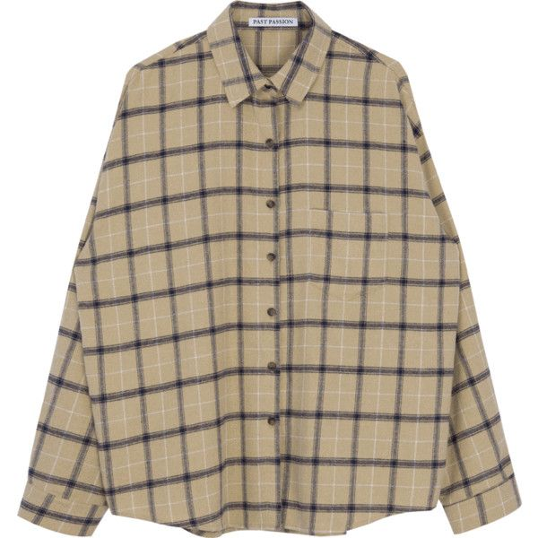 Drop Shoulder Check Shirt ($30) ❤ liked on Polyvore featuring tops, lace up front top, checked shirt, cut loose shirt, ripped shirt and bunny shirt