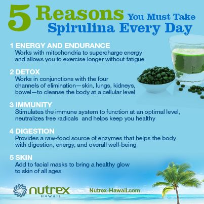5 reasons why you must take Spirulina every day! I Nutrex Hawaii - Hawaiian Spirulina Pacifica