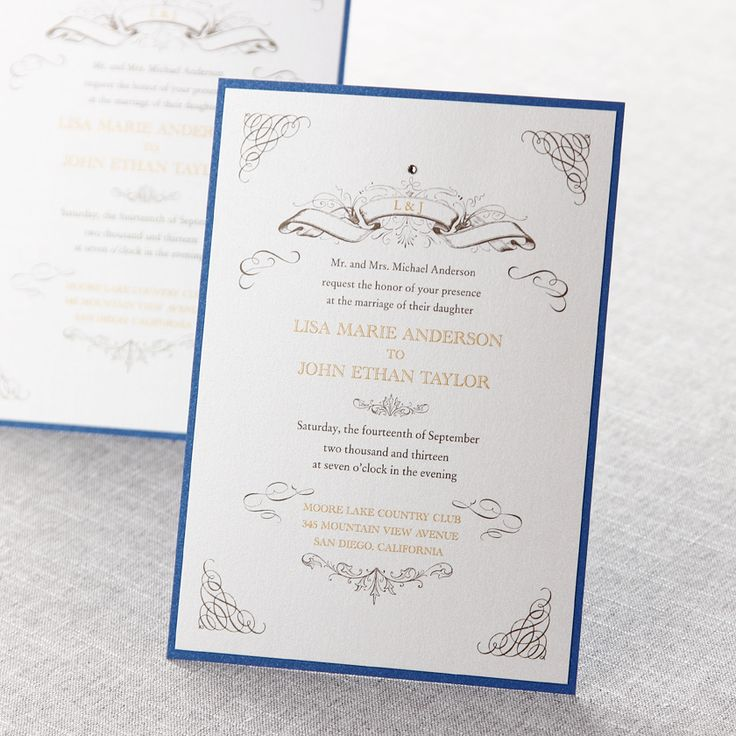 15 best blue and yellow wedding invitations images on Pinterest ...