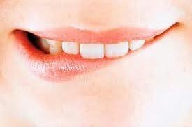 Biting lip...8:43 pm Wednesday