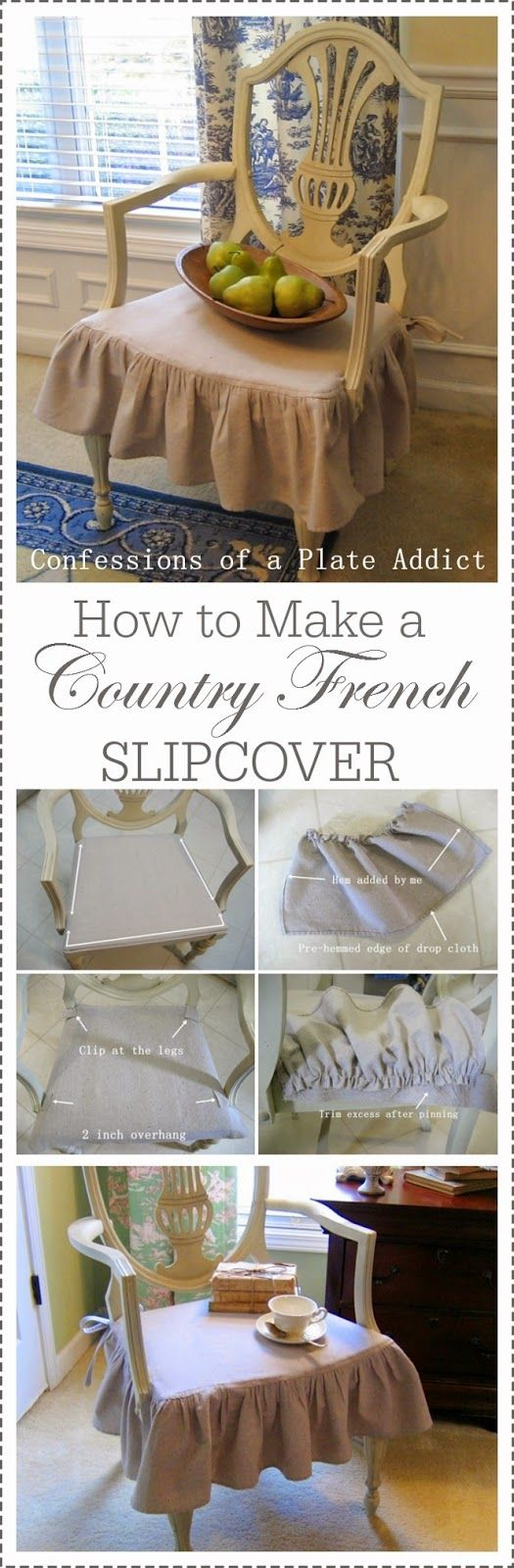 CONFESSIONS OF A PLATE ADDICT How to Make a Country French Slipcover