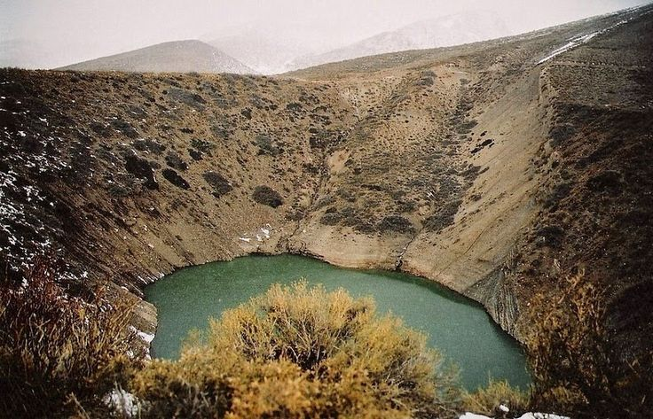 """Pozo de las Animas or the """"Well of Souls"""" is a pair of two spectacular sinkholes located in Mendoza province, in Argentina, along Provincial Route 222 near the village of Los Molles. Both sinkholes were created by the collapse of underground voids created by the dissolution of gypsum deposits by groundwater..."""