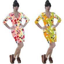Printed Short Sleeve Sexy Fashion Women Dress Best Buy follow this link http://shopingayo.space