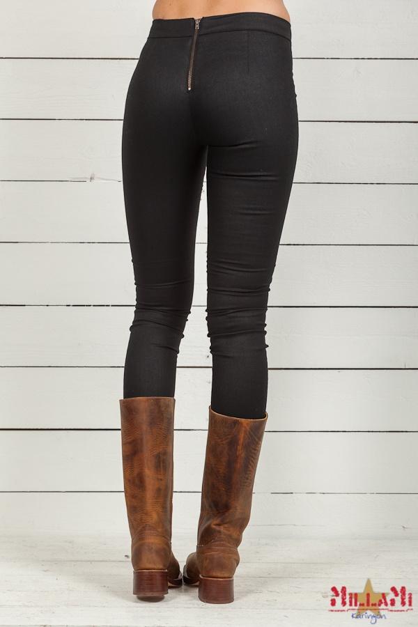 Second Female Andi Pants W/O Zipper Black