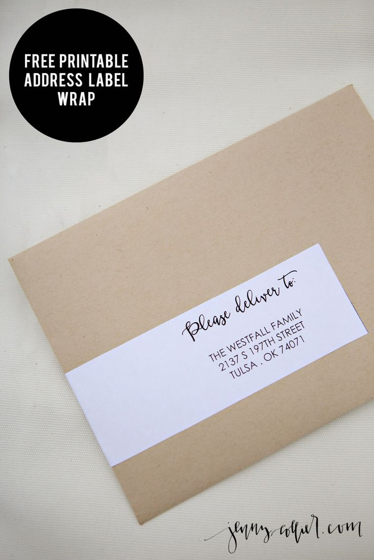 Printable address label wrap