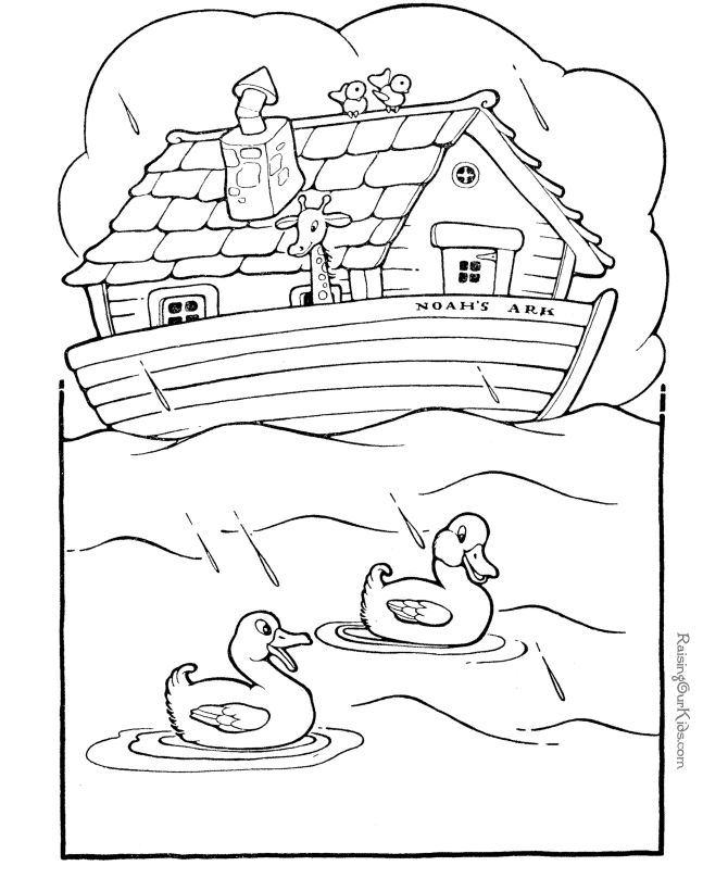 Free printable Noah's Ark, Bible coloring pages Kids