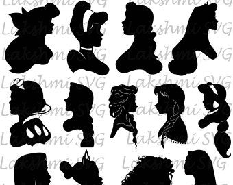 Disney princess svg, Disney princess eps, Disney princess silhouette, Disney princess , silhouette files, cutting files,instant download