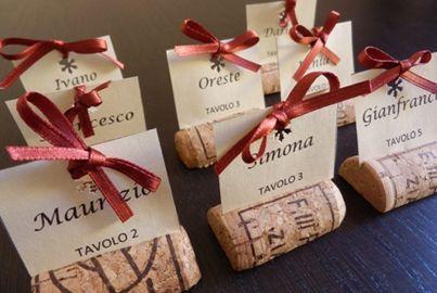 #Segnaposti realizzati con i #tappi di sughero delle #bottiglie di #vino @CantineLombardoMarsala