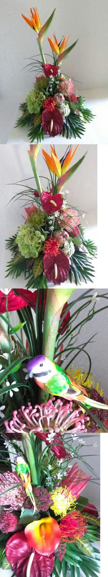 Floral D cor 4959: Tropical Silk Flower Floral Arrangement, Hotel Office Decor -> BUY IT NOW ONLY: $85.95 on eBay!