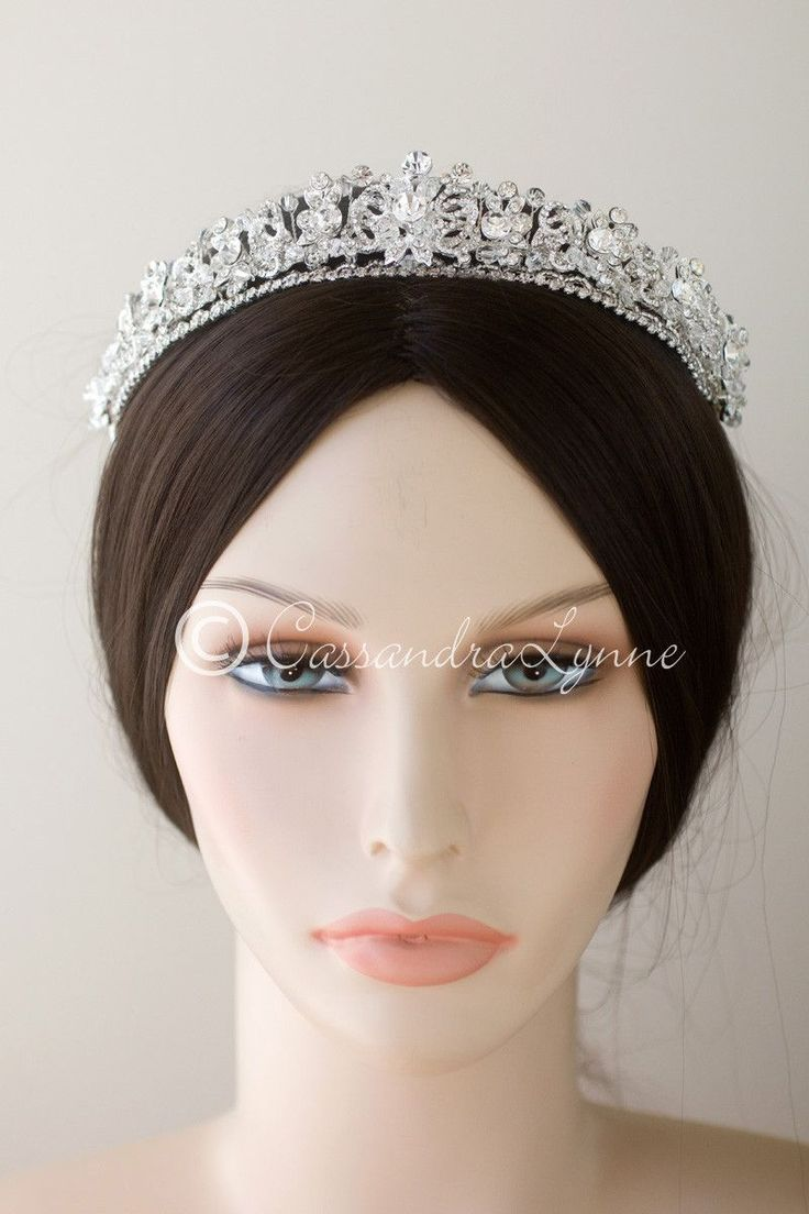 Bridal tiaras and veils - Jeweled Knots Wedding Tiara With Crystal Beads