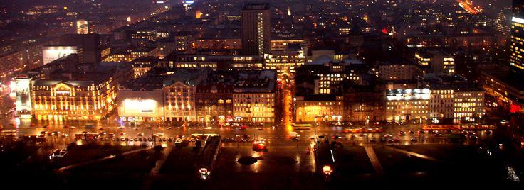 Warsaw nightlife.