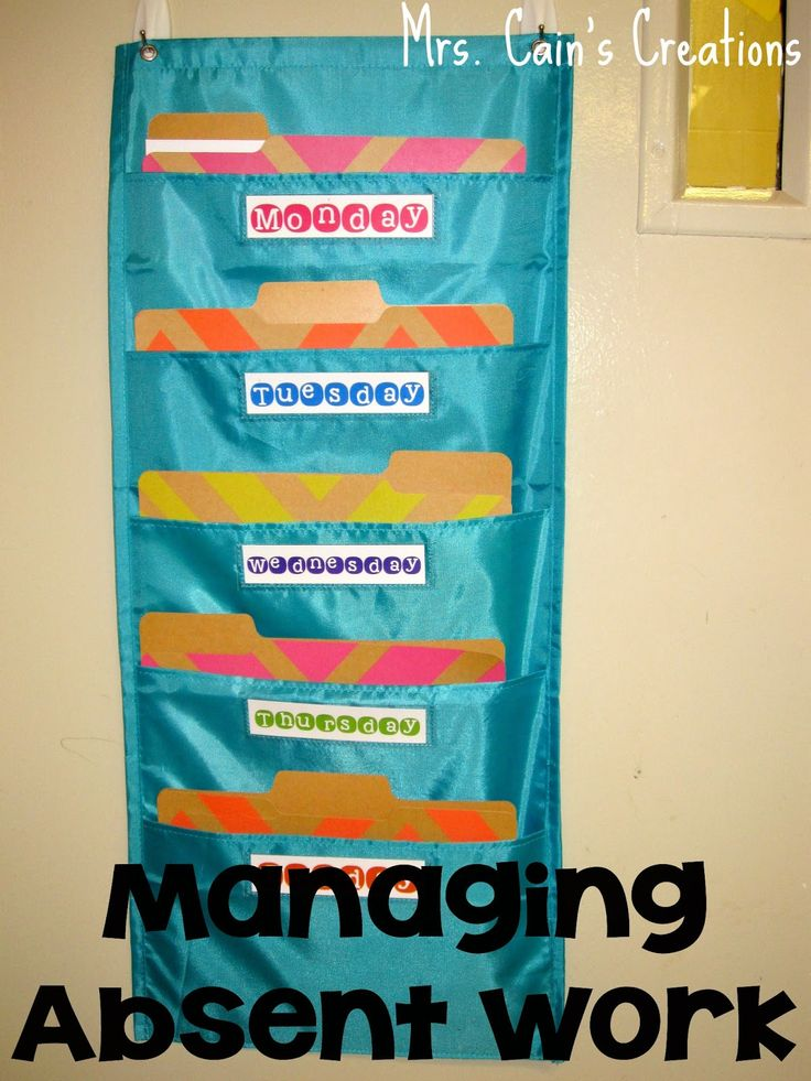 Mrs. Cain's Creations: You Oughta Know About...Managing Absent Work