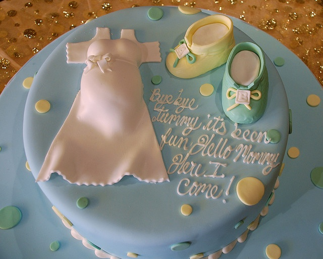 Carlos Baby Shower Cake
