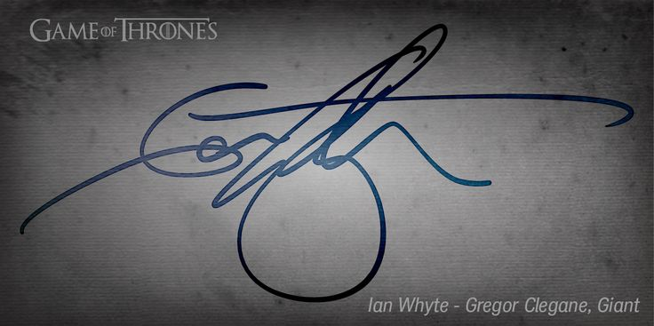 Game of Thrones - Ian Whyte - Gregor Clegane, Giant