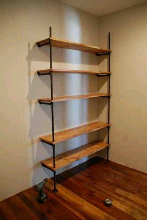 Black Iron Pipe And Barn Board Shelves Beautiful