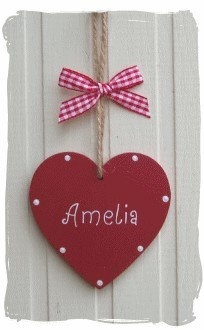 Personalised Wooden Heart   www.bynicki.co.uk